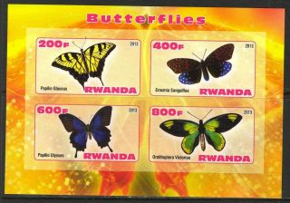 2013 Butterflies Iv Imperf.  Sheet Of 4 5r I 004 photo