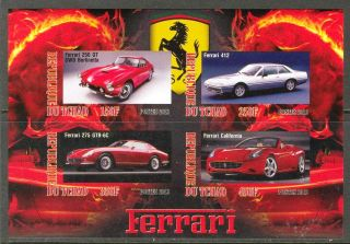 2013 Cars Ferrari Ii Imperf.  Sheet Of 4 5t I 006 photo