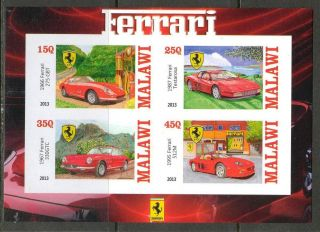 2013 Cars Ferrari I Imperf.  Sheet Of 4 5m I 005 photo