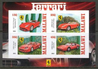 2013 Cars Ferrari Ii Imperf.  Sheet Of 4 5m I 006 photo