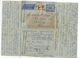 Cover,  South Africa Postal Stationery,  Contrary To Regs.  1958. photo