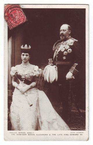 Great Britain 1910 Maximum Card King Edward Vii Mailed Maxi Card Uk photo