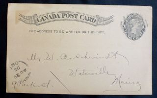 1895 Canadian Stationery Postcard - Victoria photo