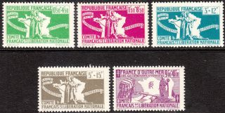 Stamp Label France 1944 French Colony Corsica Comité De Libération Nationale photo