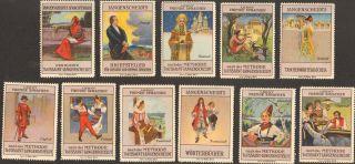 11 Art Nouveau Poster Chromolitograph Cinderella Stamp 1900 Langenscheidts Ps 20 photo