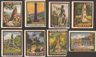 7+1 Poster Cinderella Stamp 1910s Karlsbad Karlovy Vary Huch Braunschweig Ps 19 photo