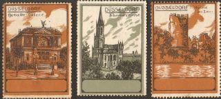 3 Poster Cinderella Stamp Reklamemarke 1910s Dusseldorf Deutschland Ps 12 photo