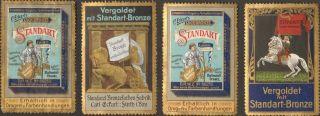 4 Jugendstil Poster Cinderella Stamp Reklamemarke 1900 Standart Deutschland Ps1 photo