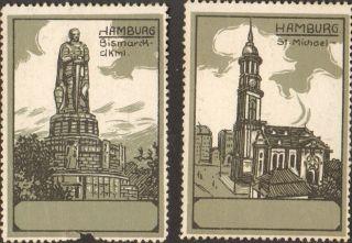 2 Poster Cinderella Stamp Reklamemarke 1910s Germany Hamburg Deutschland Ps 7 photo