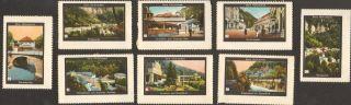 7 Poster Cinderella Stamp Reklamemarke 1910s Herkulesbad Baile Herculane Ps 2 photo