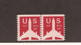 Scott C - 80 - Airmail - 0.  11 Cents - - Perf 10 Vert - Coil Stamp photo