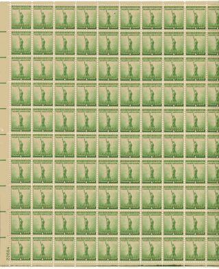 For Defense - Industry Agriculture Sheet Of 100x1 Cent Us Postage Stamp Scot 899 photo