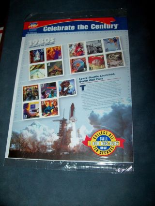 Celebrate The Century The 1980 ' S.  Various Design Stamp Sheet.
