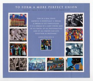 207 Us Stamp Scott 3937 - 37c To Form A More Perfect Union Sheet Of 10 photo