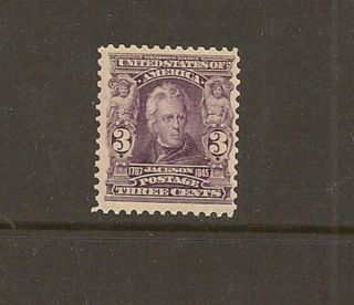 Us Sc 302 3c Violet Jackson 1903 Regular Issue Nh Og F/vf Sc$130+ photo