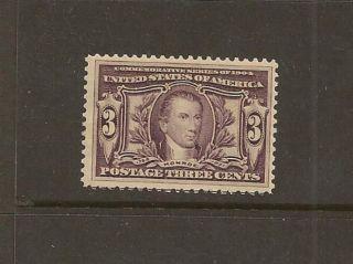 Us Sc 325 3c Violet Monroe Louisiana Purchase 1904 Vlh Og F/vf Sc$70+ photo