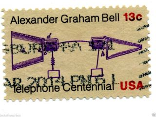1683 Single,  Alexander Graham Bell Yr 1976,  13 Ct Postmark, photo