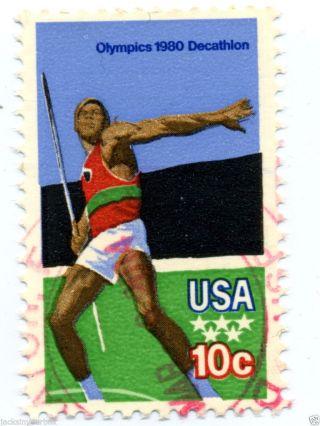 1790 Single,  Olympics 1980 Decathlon,  Yr 1979,  10 Ct Postmark, photo