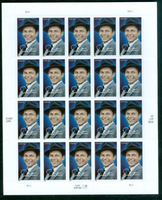 Us 4265 42c Frank Sinatra Sheet Of 20 C1 photo