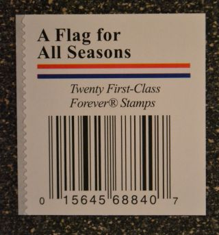 2013usa 4778 - 4781a Forever A Flag For All Seasons Block Or 4 (apu) Label Back photo