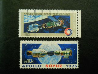 Us Scott 1569,  1570 Apollo And Soyuz (1975, ) photo