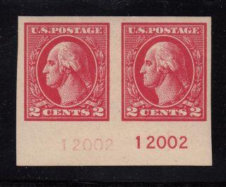 1920 Sc 534 Carmine Mhr Ghost Plate No.  Imperf Pair Cv $85+ photo