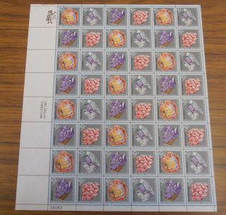 Us Stamp Sheet - Scott 1538 - 1541 Mineral Heritage Issue photo