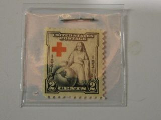 1881 - 1931 Red Cross U.  S.  Stamp / 2 Cents / Gum / photo