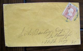 65 Blue Cancel On Cover 1861 Civil War Issue 19th Century Us Stamp 63 photo