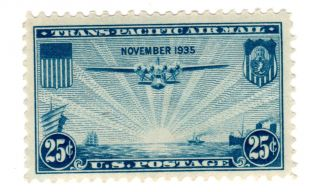 U.  S.  Scott C20 1935 25 Cent Airmail Mh photo