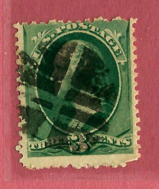 1800s Us Stamp W/ Fancy Crossroads - Like Geometric Cancel. . . .  K10 photo
