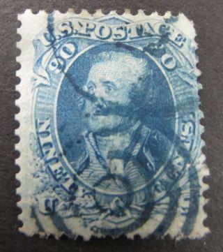 90¢ - Blue Or Dull Blue 389,  000 - Perf.  12 - Scott 72 - 1861 Classic photo