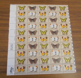 Us Stamp Sheet - Scott 1712 - 1715 - Butterfly Issue photo