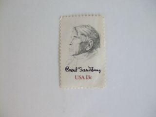 Carl Sanburg 13 Cent Postage Stamp photo