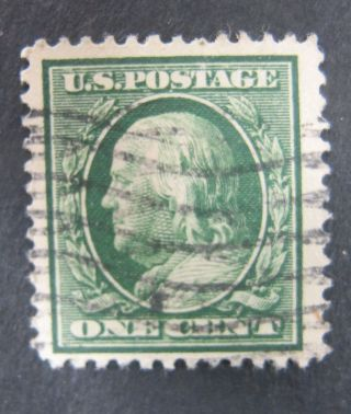 1¢ Green Flat Plate Perf.  12 Double Line Wmk Scott 331 - 1908 Well Centered photo