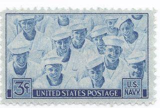 1945 U S Stamp Us Navy 3 Cent Stamp Ww2 Era Stamp P1 photo
