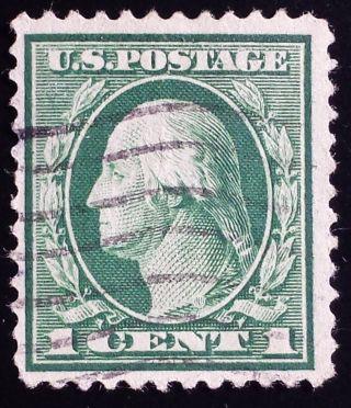 U.  S.  Scott 405 1c Sl Watermark Perf.  12,  F - Vf photo