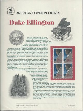 2211 Duke Ellington 1986 Commemorative Panel photo