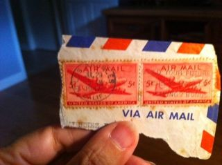 Us Airmail Stamp 5 Cents 1947 photo