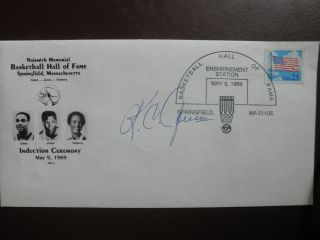 First Day Cover Basketball Hall Of Fame Signed By K.  C Jones At Enshrinement photo