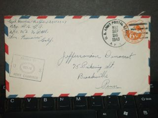 Apo 952 Fort Hase,  Hawaii 1943 Censored Wwii Army Cover 16th Ca photo