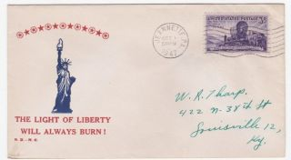 Jeannette Pa 1947 Light Of Liberty Always Burn Patriotic Cover photo