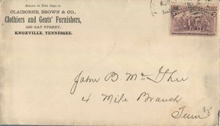 Knoxville Tn Clothiers & Gents Furnishers 1890 ' S Advertising Cover photo