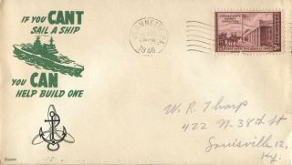 Jeannette Pa 1946 Oct 22 If You Can ' T Sail A Ship Cacheted Cover photo