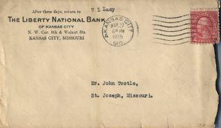Kansas City Mo Liberty National Bank 1925 Advertising Cover photo