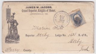 Jeffersonville In Grand Reporter Knights Of Honor 1886 Ad Cover photo