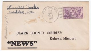 Kahoka Missouri 1936 Clark County Courier News Advertising Cover photo