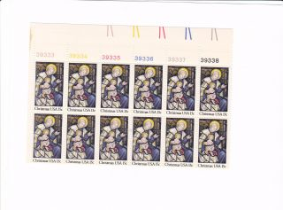 Scott 1842,  Christmas Madonna,  Plate Block Of 12,  1980 Issue,  Mnhog photo