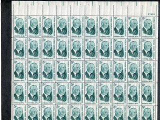1235 Sheet Of 50 5¢ Cordell Hull.  Issued In 1963 photo