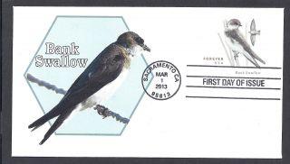 U680 Bank Swallow Stamped Envelope Of 2013 photo